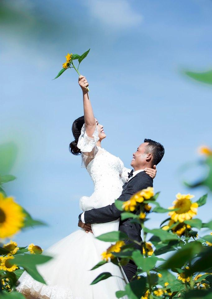 Vườn hoa - Địa điểm chụp hình cưới được nhiều bặn lựa chọn