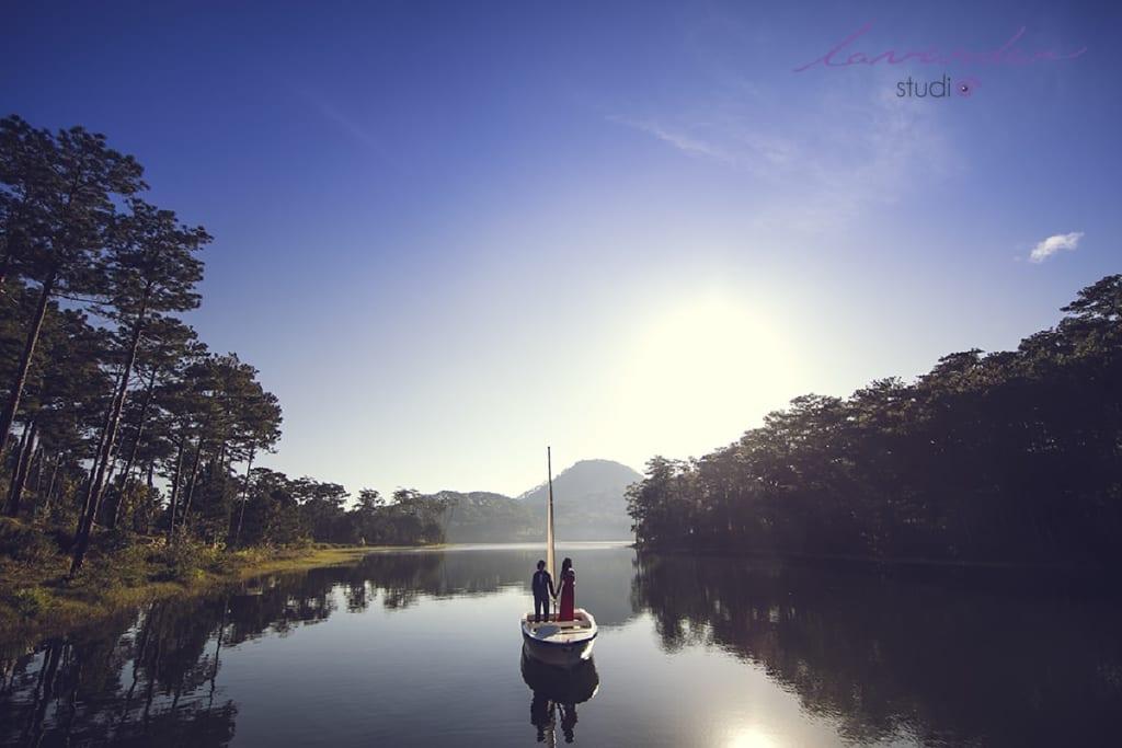 Chụp hình cưới ở Hồ Tuyền Lâm được nhiều bạn lựa chọn