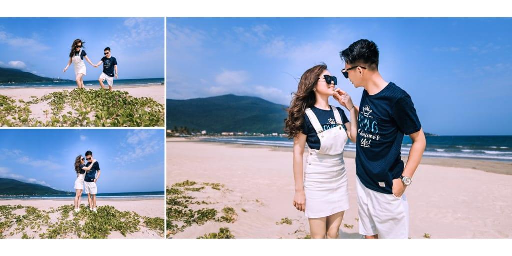 Chọn đồ đôi chụp hình cưới ở biển