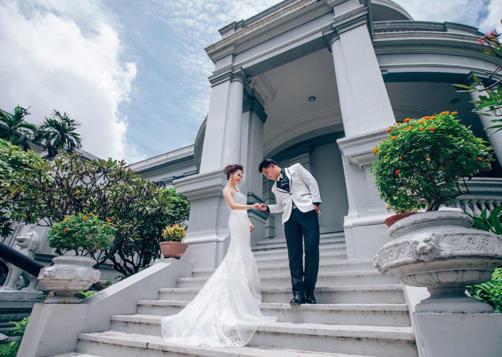 Chụp hình cưới tại bảo tàng Tp.HCM